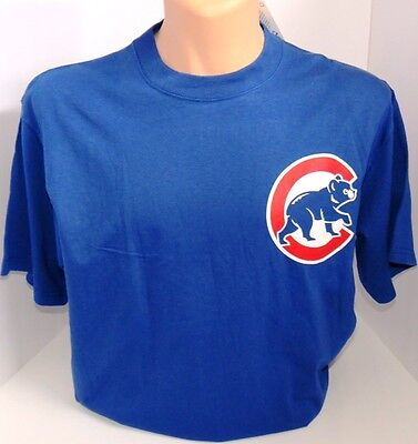 bc75a5c7 MAJESTIC Blue 100% Cotton Baseball Chicago Cubs T-shirt Size XLarge Youth  New