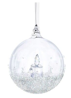 Swarovski 2017 Christmas Ball Annual Ornament BNIB