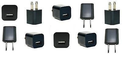 LOT OF 10 USB Power Adapter Wall Charger SmartPhone LG Stylo Samsung Galaxy Note