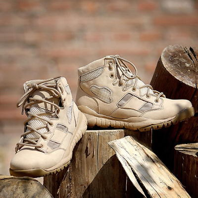 f1ac26689f MILITARY TACTICAL BOOTS Mens Desert Combat Outdoor Army Hiking Travel Botas  Shoe