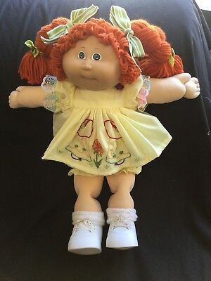 Cabbage Patch Kid Doll Dress Set Lemon/embroidery.