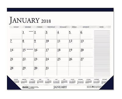 2018 Monthly Desk Calendar Notes Section 18 1/2 X13 Office Planner Schedule Book
