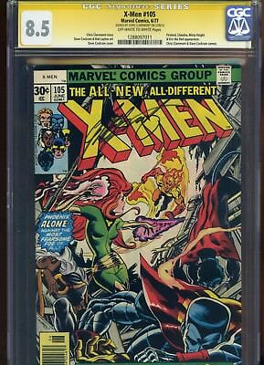 Uncanny X-Men #105 CGC 8.5 SS Chris Claremont 1977