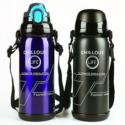 Stainless Steel Insulated Travel Thermos Flask Beverage Water Bottle Coffee Mug