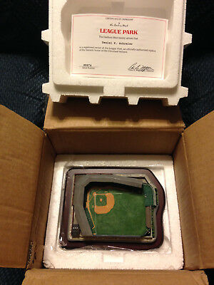Danbury Mint League Park in Cleveland with original box and COA