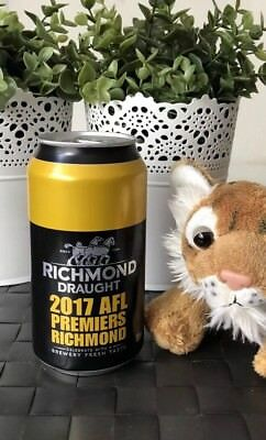 AFL Richmond Tigers 2017 Premiership Beer Can FULL Unopened #1