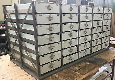 Metal Steel Parts Workshop Craft Drawers Large Vintage Industrial