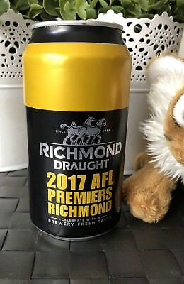 AFL Richmond Tigers 2017 Premiership Beer Can FULL Unopened #2