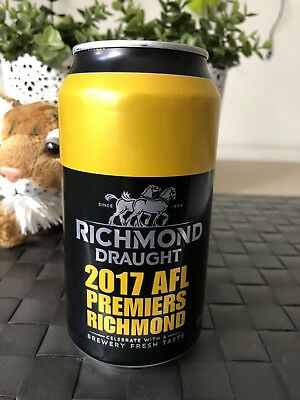 AFL Richmond Tigers 2017 Premiership Beer Can FULL Unopened #5