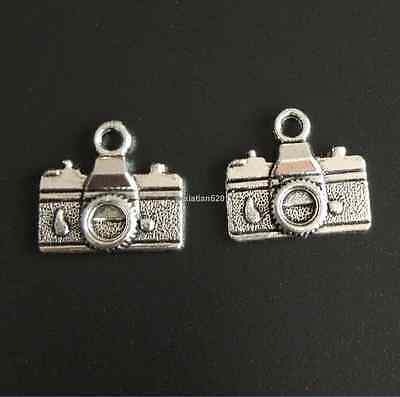 10pc Retro Tibetan Silver Camera Pendant Charms Beads Dangle Findings