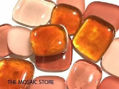 Orange Mixed Glass Pebbles For Mosaics Art Craft Supplies Tiles