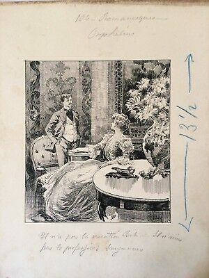 "Dessin ORIGINAL Gino Starace Encre Illustration ""Romanesques"""