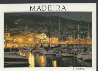 Portugal Postcard - Madeira, Funchal - A Night View From The Marina   T866