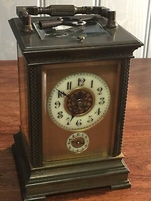 Antique Grande 8 Day French Carriage Clock
