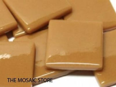 Brown Sugar Gloss Glass Tiles 2.5cm - Mosaic Tiles Supplies Art Craft
