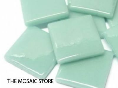 Pale Teal Gloss Glass Tiles 2.5cm - Mosaic Tiles Supplies Art Craft