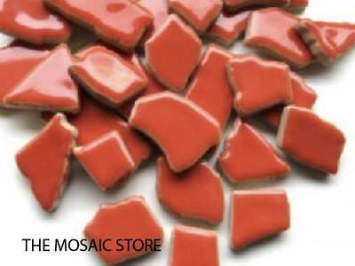 Coral Red Ceramic Puzzle Pieces - Mosaic Tiles Supplies Art Craft