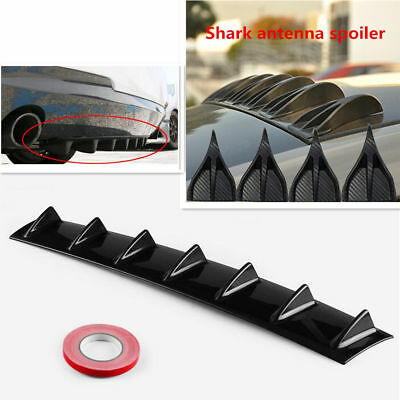 "34"" x 6.25"" Shark Fin Splitter ABS Rear Bumper Diffuser Fins For Mazda Subaru"