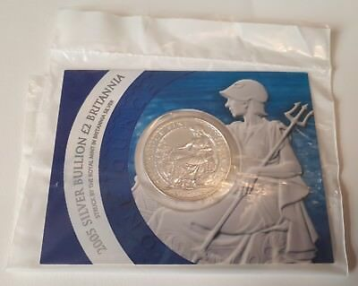2005 Silver Bullion Britannia Coin in Royal Mint Sealed Pack