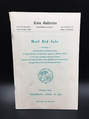 1962 Coin Galleries Ancient Us World Tokens Russian Auction Catalog