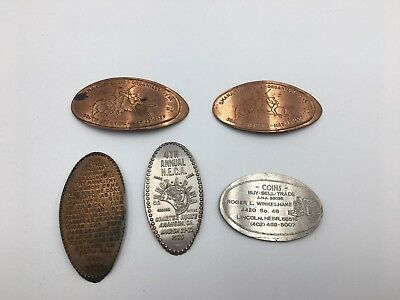 Lot Of (5) Elongated Coins