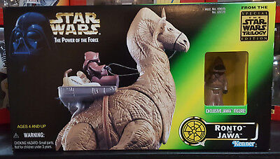 STAR WARS Power Of The Force (1997) RONTO and JAWA in Unopened NEW MIB