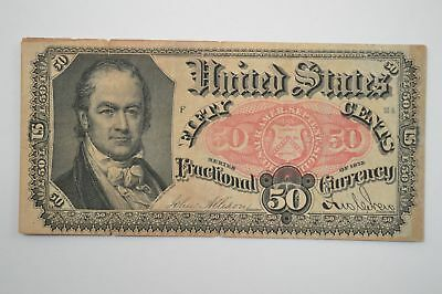 19th Century Fifty Cents Fractional Currency, Fifth Issue FR1381 *P08
