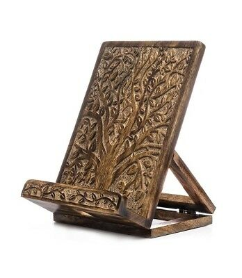 Bible, Book, Tablet Holder Rustic Accents Antiqued Look Brass Accents Book Stand