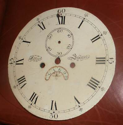 "Antique   12"" Round Dial  For Longcase / Grandfather Clock"