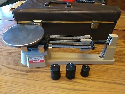 Ohaus  700/800 2610g Balance Beam Scales Original Case Weights