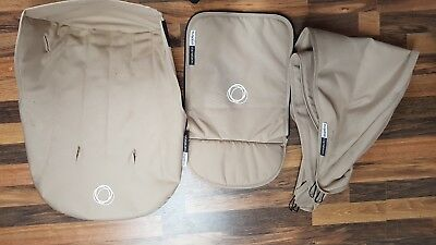 Bugaboo Cameleon Sand Colour Canvas Fabric Set With Hood, Apron And Seat Cover