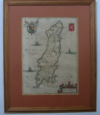 Isle of Man: antique map by Johan Blaeu, 1645 and later