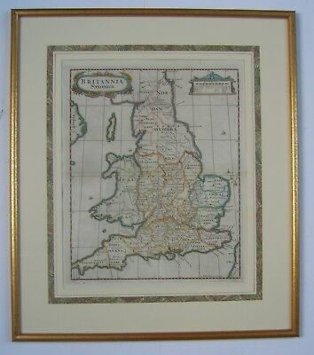Britannia Saxonica: antique map by Robert Morden, 1695 and later