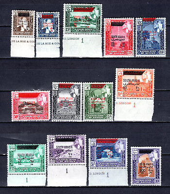 Aden 1966 Quaiti State Haddramaut Full Sets Of Mnh Stamps Un/mm