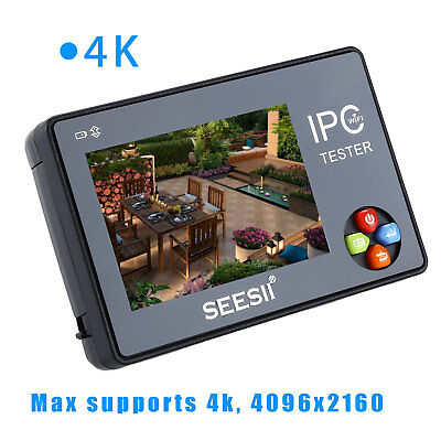 "Portable 3.5"" Touch Screen 4K CCTV IP Camera Tester WIFI PTZ Video Audio Monitor"