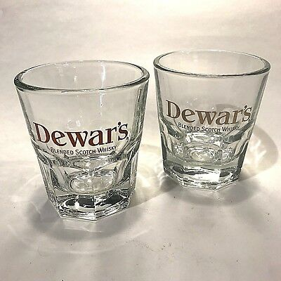 Dewar's Blended Scotch Whisky Heavy Bottom Glasses 5 oz