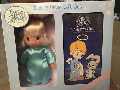 Precious Moments- Timmy's Gift- Doll and video gift set MIB