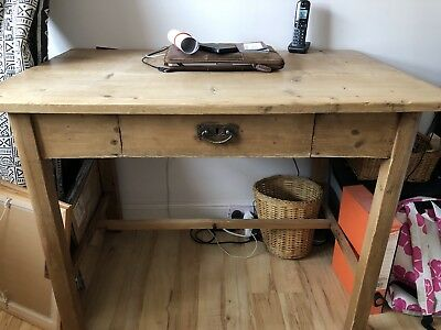 Late Victorian Pine Desk / Hall Table