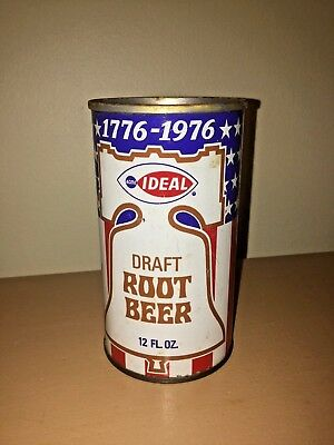 Vintage ACME IDEAL Draft Root Beer Flat top Soda can Bicentennial 1776 1976