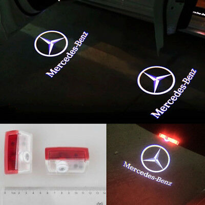 Led Light Door Projector Welcome AMG Logo Emblem Kit For Mercedes benz A B E ML.