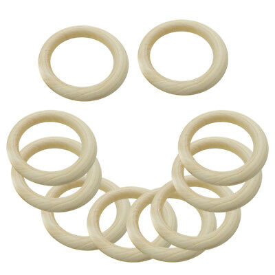 20pcs Natural Wooden Teether Wood Baby Teething Ring Toys DIY Crafts