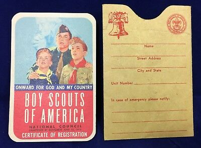 Vintage Boy Scout Cub Scout Membership Card And Holder West Virginia WV
