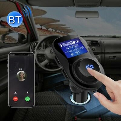 TECH Black Wireless Bluetooth FM Transmitter Radio Adapter Car Charger, with 1.