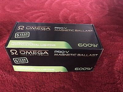 Omega Pro-V 600W Ballast & OMEGA DIGI-PRO 600w Dimmable Digital Grow Light Ballast HPS MH 250 ...
