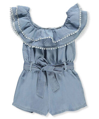 Chillipop Girls' Belted Romper