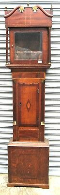 "A Good Old Oak Mahogany Grandfather Clock Case - Circa 1820 - to fit 12"" Dial."