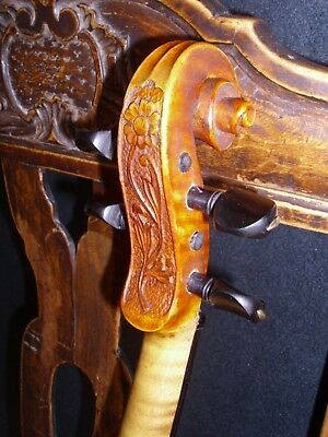Beautiful carved wonderful bohemian violin, about 1890 c !