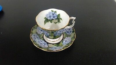 Royal Albert Bone China Bouquet Series Hydrangea Coffee Tea Cup And Saucer