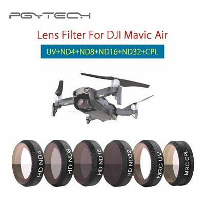 PGY Camera Lens Filter UV/ND4/ND8/ND16/ND32/CPL For DJI Mavic Air Professional