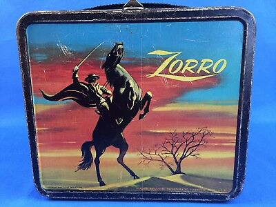 Vintage 1958 ZORRO Metal Lunchbox by Aladdin Industries No Thermos